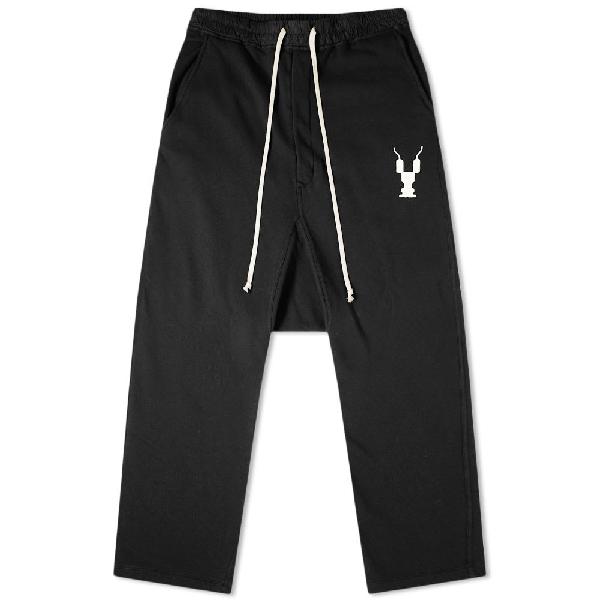 Rick Owens Drkshdw Logo Drawstring Pant In Black | ModeSens