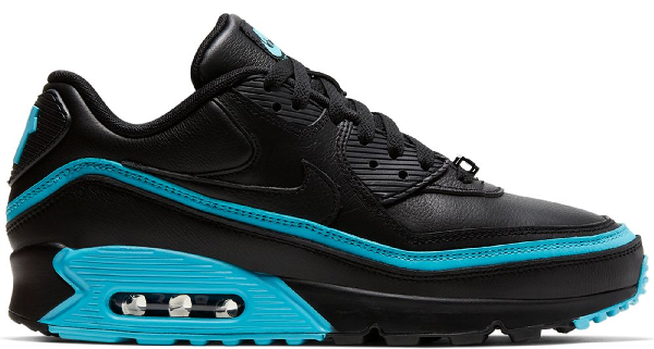 Pre Owned Nike Air Max 90 Undefeated Black Blue Fury In Black Blue