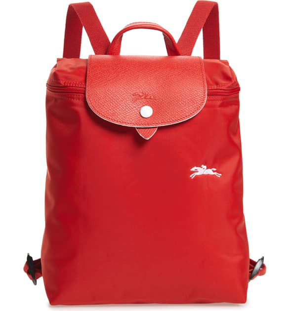 Le Pliage Club Backpack - Red In Vermillion