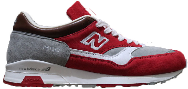New Balance 1500 Colette Pig Skin Red In Red/grey/burgundy
