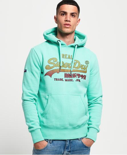 Verblasstes Vintage Logo Hoodie In Green