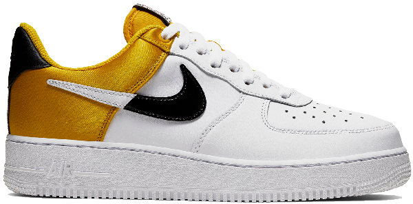 Pre Owned Nike Air Force 1 Low Nba City Edition White Gold In