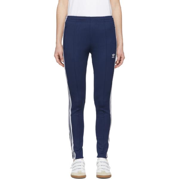 Adidas Originals Women S Originals Superstar Track Pants Blue In