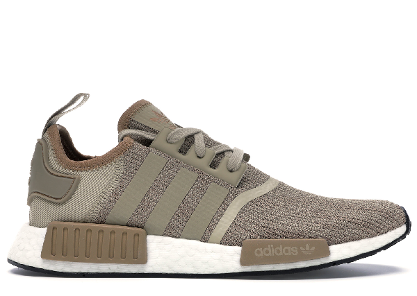 Pre Owned Adidas Originals Adidas Nmd R1 Raw Gold Cardboard White