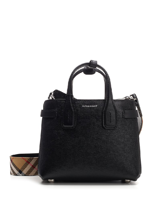 Burberry Baby Banner Tote Bag In Black Modesens