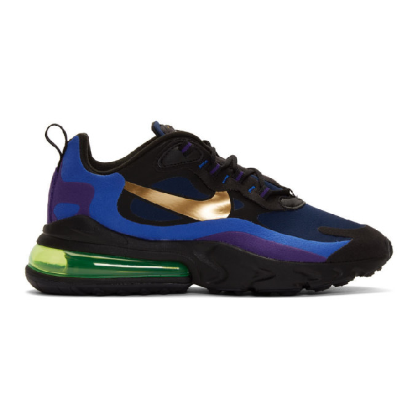 Nike Air Max 270 React Sneakers In Blue Ao4971 005 In 005blackuni