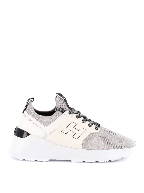 Hogan H443 Active One Tech Fabric Sneakers In White   ModeSens