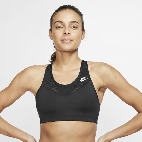 Nike Dri Fit Windrunner Cross Back Sports Bra In Black Modesens