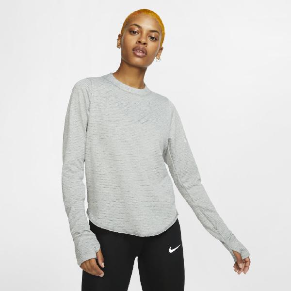 Afirmar aumento Discriminatorio  Nike Sphere Element Women's Long-sleeve Running Top In Grey | ModeSens