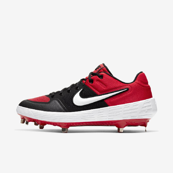 Alpha Huarache Elite 2 Low Baseball Cleat In Red