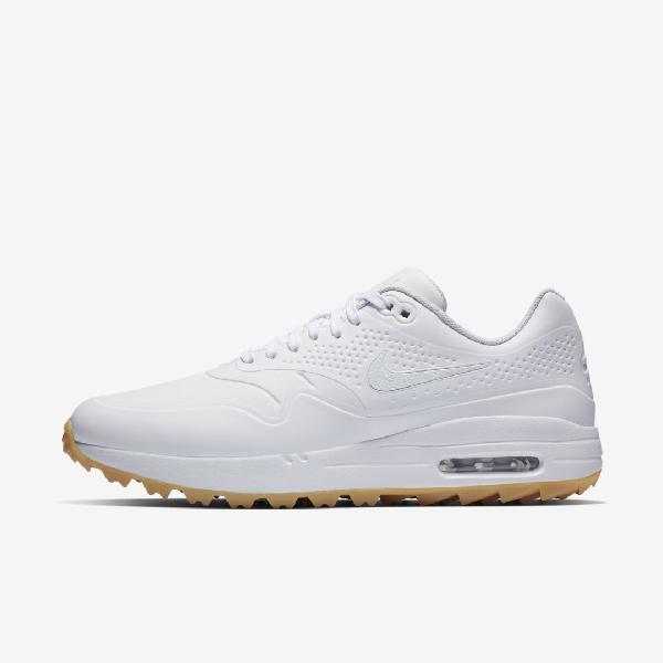 Nike Air Max 1 G Men S Golf Shoe In White Gum Light Brown White Modesens