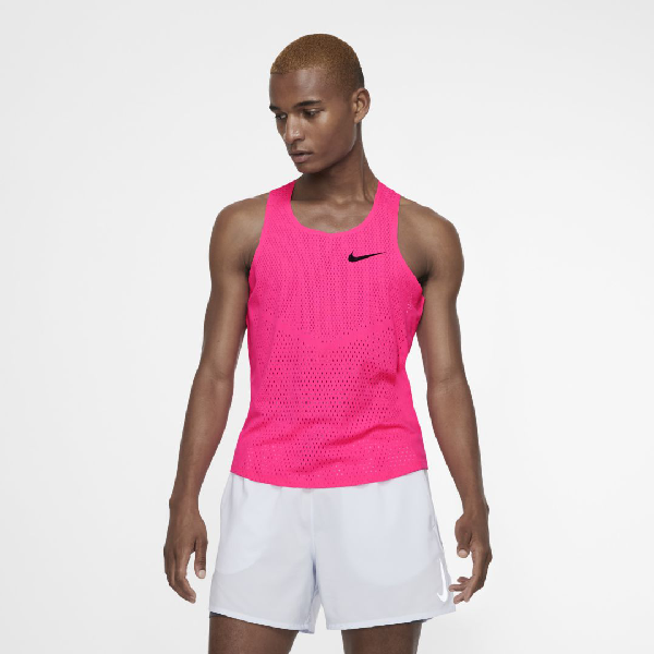 quemar sexo Profeta  Nike Aeroswift Men's Running Singlet In Hyper Pink | ModeSens