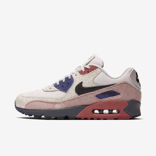 Nike Air Max 90 Shoe In Desert Sand Desert Dust Thunder Grey Black