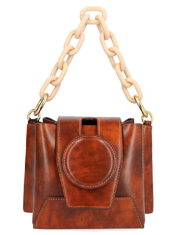 Yuzefi Daria Mini Bucket Bag In Smooth Marble Modesens