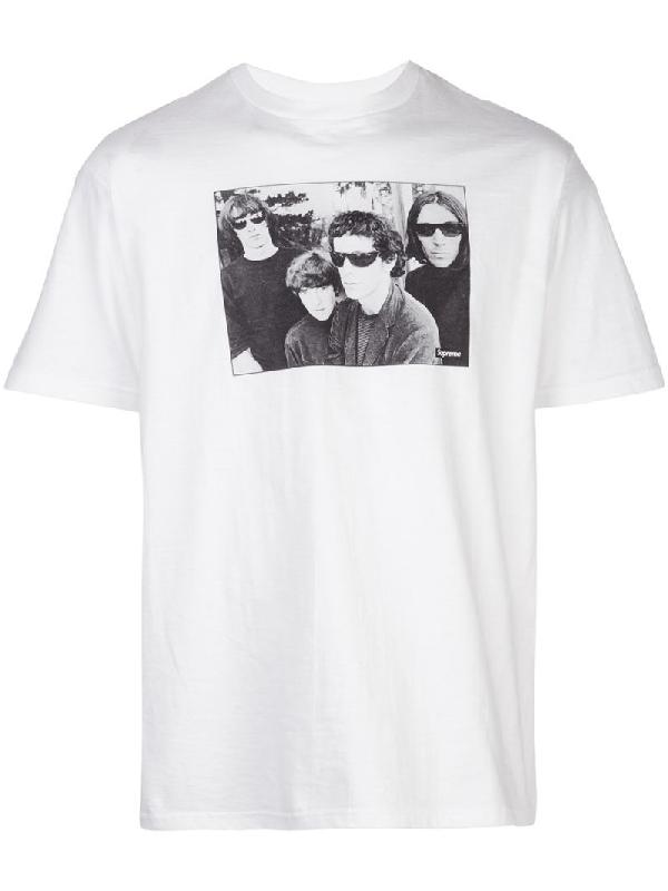 Supreme FW19 The Velvet Underground Tee BOX LOGO T-SHIRT BANNER SMOKE LOU REED S
