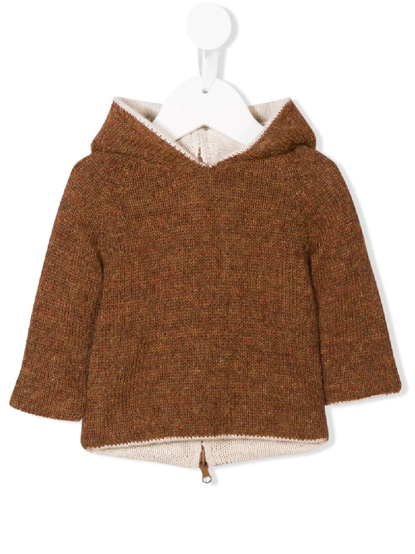 BACK ZIP KNITTED SWEATER