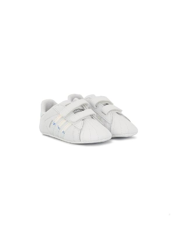 Adidas Originals Babies' Superstar Crib Shoes In White | ModeSens