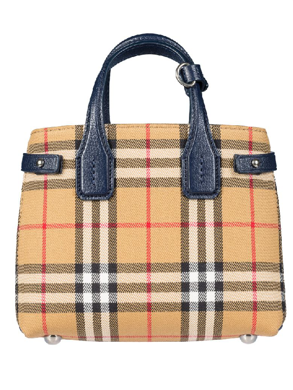Burberry Baby Banner Tote In Regency Blue Modesens