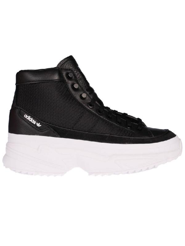 Encogerse de hombros dos semanas Eso  Adidas Originals Women's Kiellor High-top Platform Sneakers In Black/black  | ModeSens