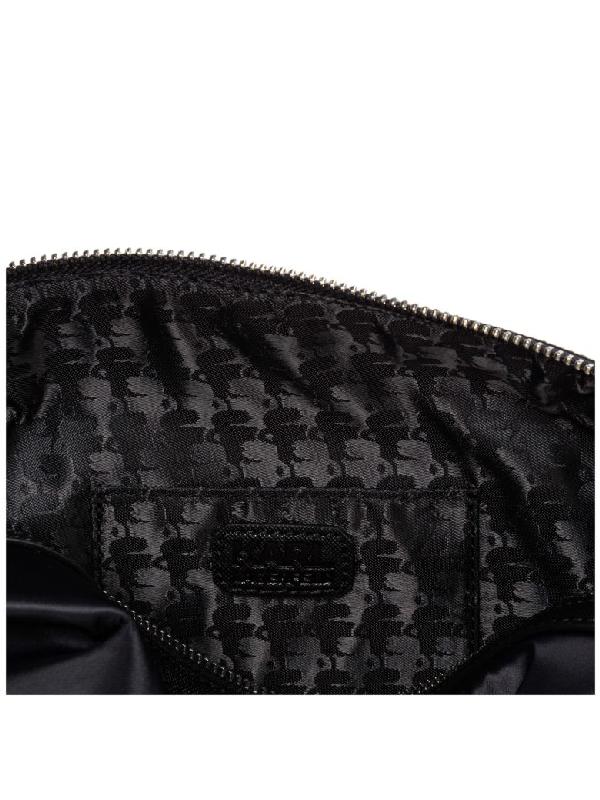New Karl Lagerfeld Men Travel Toiletry Wash Bag Black