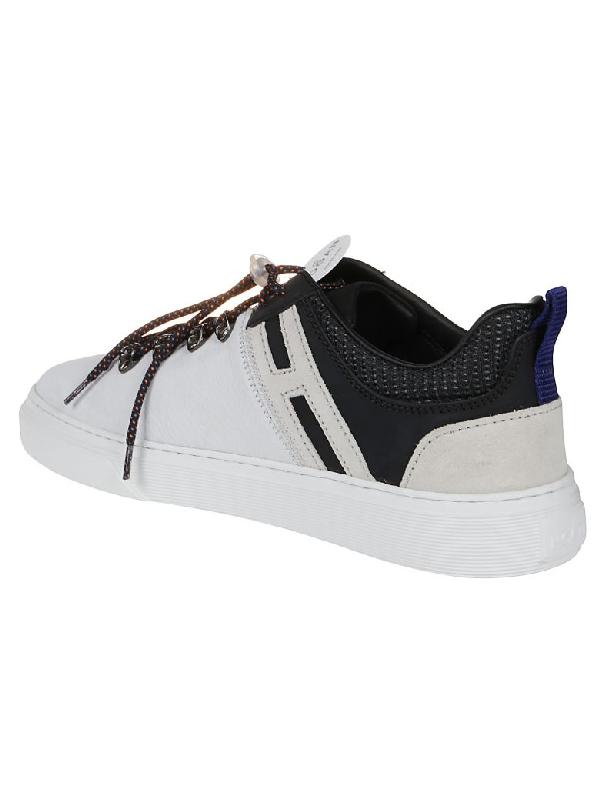 Hogan H365 Lo-top Ganci Sneaker In U Nero/bianco/city/cemento ...