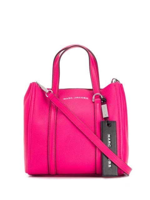 Mini Tag Tote Bag In Pink