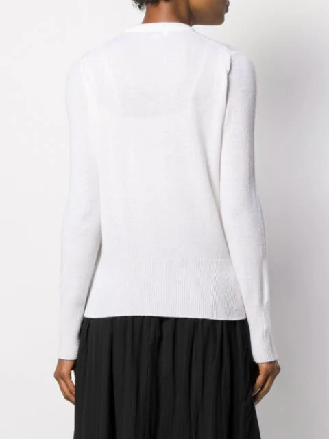 Sanni Cashmere Crew Neck Sweater In Cream