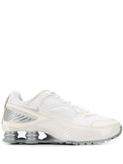 Nike Cream And Silver Shox Enigma 9000 Sneakers In White ...