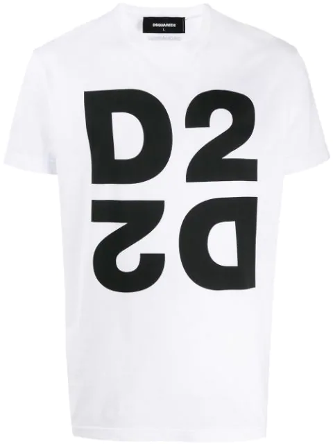 Dsquared2 Mens Front Logo T Shirt White
