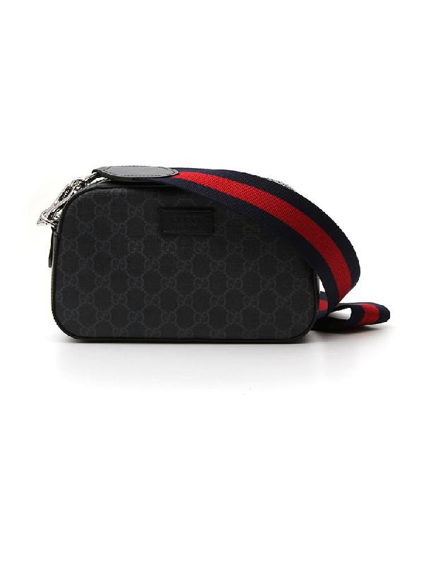 Gucci Gg Supreme Shoulder Bag In Black | ModeSens