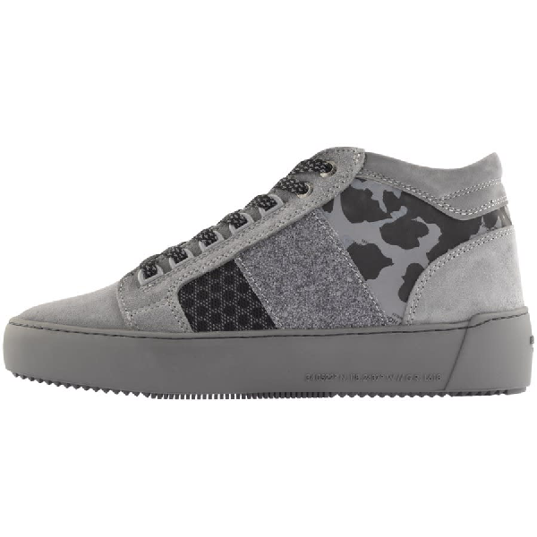 Android Homme Propulsion Mid Trainers Grey Modesens