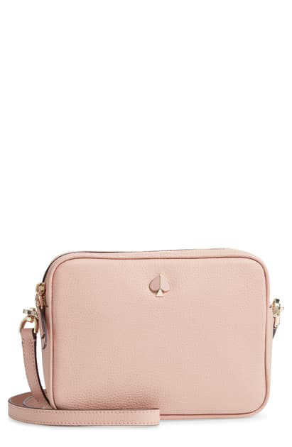 Kate Spade Medium Polly Leather Camera Bag In Flapper Pink Modesens