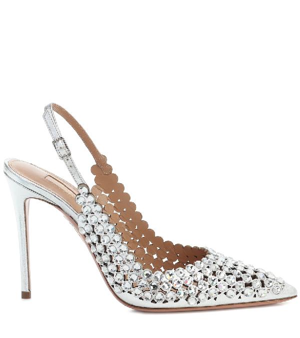 Aquazzura Heaven pumps for Women - Silver in UAE | Level Shoes