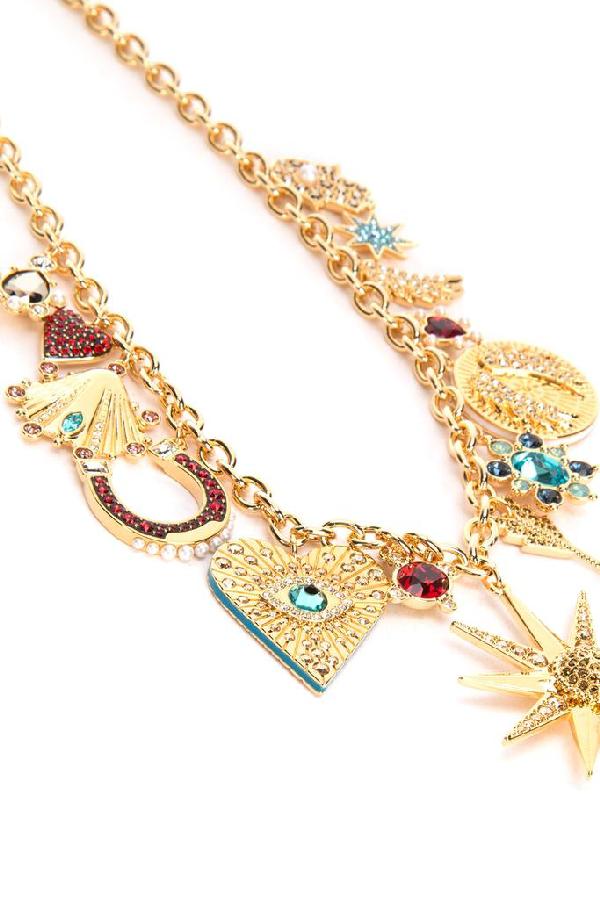 Swarovski Lucky Goddess Charms Necklace In 000