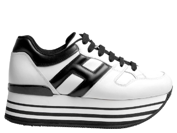 Hogan Maxi H222 Striped Sole Sneakers In White | ModeSens
