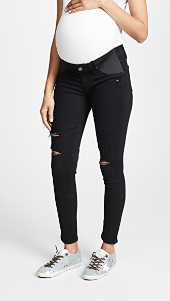 Paige 1394521 Transcend Verdugo Mid-Rise Ultra Skinny Jeans in Black Dest