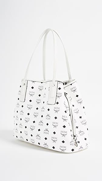 Shopper Project Visetos White Medium Reversible Tote Bag