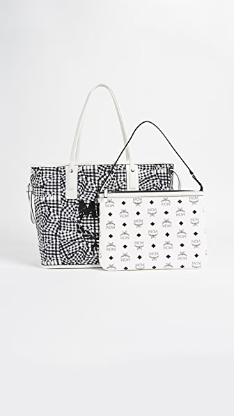 Shopper Project Visetos White Medium Reversible Tote Bag