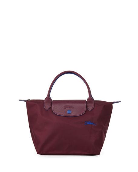 Le Pliage Club Small Top-handle Tote Bag In Plum/silver