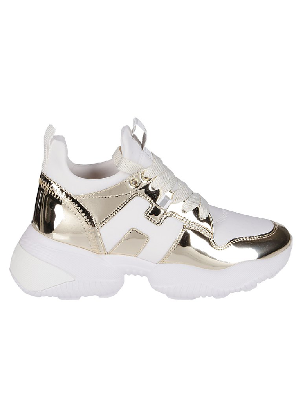 Hogan Interactive Sneakers In Gold | ModeSens