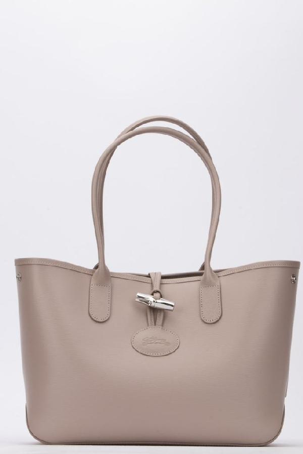 Longchamp Roseau Small Tote Bag In Brown