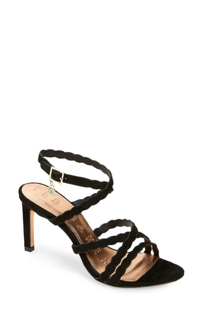 Ted Baker Womens Effiey PVC Sandal Entangled Enchantment Black