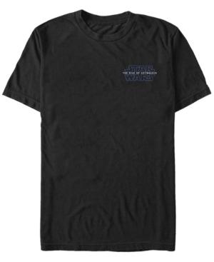 Star Wars Men S Rise Of Skywalker Left Chest Logo T Shirt In Black Modesens