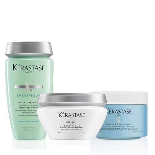 Kerastase Fusio Scrub Oily Scalp Home Treatment Hair Care Set Modesens