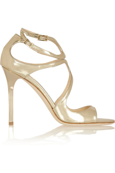 Mirror Lang Leather GoldModesens Sandals Strappy Jimmy In Choo 6fb7gyY