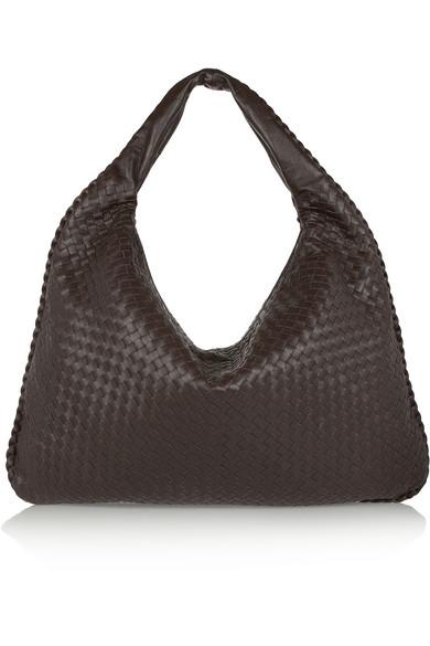 df42db9a1e Bottega Veneta Maxi Veneta Intrecciato Leather Shoulder Bag In Dark Brown