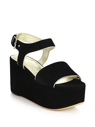 79e158f7213 Salvatore Ferragamo 90Mm Lucrezia Suede Wedge Sandals