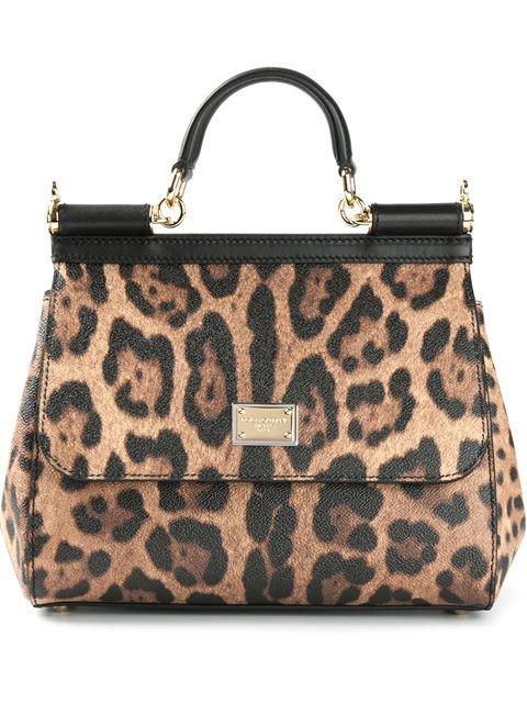 edb760ef2491 Dolce   Gabbana Woman Sicily Leopard-Print Textured-Leather Shoulder Bag  Animal Print In