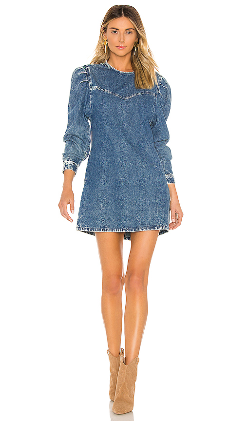 Free People Womens OB1021636 Self Control Dress Relaxed Blue Size US 4