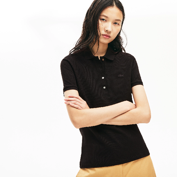 Lacoste Women's Slim-fit Short-sleeve Stretch Pique Polo Shirt In ...